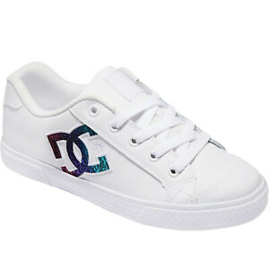 DC Shoes Womens Chelsea Leather Low Top Skater Trainers Sneakers Shoes - 3.5 UK