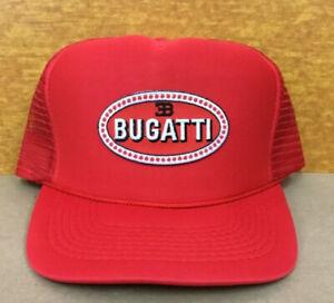 Rare Bugatti Adult Adjustable Snapback Trucker Mesh Cap Hat w/patch New