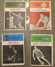 1961-62 Fleer Starter Set Lot of 4 Different Basketball Cards Low Grade / Crs