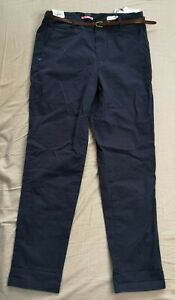 Scotch & Soda Women's Navy Blue Belted Chino Trousers Size W29  L32 - New NWT