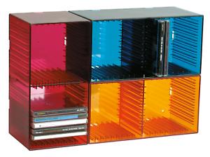 CD-Box TANGO für 18 CDs verschiedene Farben Storage Aufbewahrung