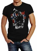 Herren T-Shirt The North Wikinger Berserker Norwegen Valhalla Odin Ragnar