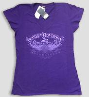 "Harley-Davidson women's Purple ""Shade shift"" v-neck short sleeve shirt 3XL"