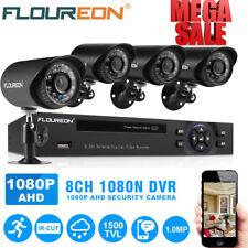 8CH 1080N DVR HDMI 720P CCTV Outdoor Home Surveillance Security Camera System
