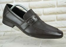 CALVIN KLEIN Bartley Mens Brown Leather Formal Shoes Loafers Size 10 UK 44 EU