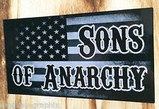 "Aufkleber Vintage Flag USA "" Sons of Anarchy "" Retro Sticker Biker/Chopper 1% US"