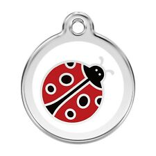 Red Dingo Stainless Steel ID Dog Tag, Charm FREE Personalized Engraving LADYBUG