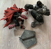 The Art of Spawn Series 26 Spawn vs. Cy-Gor Cygor Deluxe McFarlane Loose