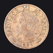 France : 1 Centime 1856K / Napoléon III tête nue / Bordeaux :(franco de port)