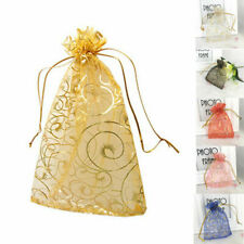 500 Gold Organza Candy Bags Sheer Jewelry Gift Favor Wedding Party Decor Pouches