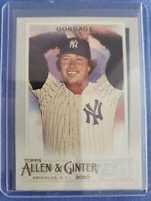Goose Gossage Sp 2020 Topps Allen Ginter #350 Short Print New York Yankees