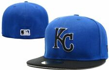 best service 4e3a2 7472f NEW! New Era Kansas City Royals MLB Blue w  Black KC Logo Cap 59FIFTY