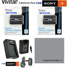 2x NP-FZ100 BATTERIES + FAST CHARGER FOR SONY ALPHA 9 A9 9R ILCE-9 A7R3 A7RIII