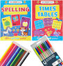 Times Tables Spelling Work Book with Gold Stars and Pull Out Poster 3+ YEARS