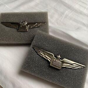 US Airways Express American Airlines vintage uniform Pilot wing Set