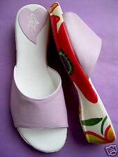 LILAC PINK SOFT SANDAL MULE. FLOWER SOLE. 4. 37. NEW
