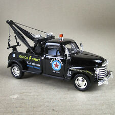 Black Diecast 1953 Chevrolet  3100 Wrecker 1:38 Scale Model Car Tow  Truck