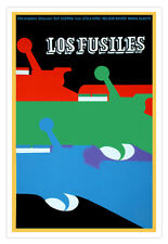 Cuban decor Graphic Design movie Poster for Cuba film.The RIFLES.Gun art