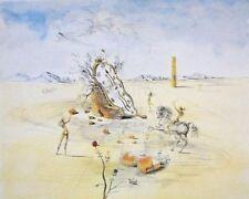 "Salvador Dali ""Cosmic Horseman"" Melting Clock LE Lithograph Facsimile Signed"