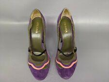 Prada Fairy Collection Wave Purple Shoes Sz 39.5 (N4)