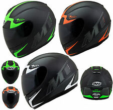 MT THUNDER SQUAD ORANGE GREEN BLACK FULL FACE MOTORCYCLE MOTORBIKE CRASH HELMET