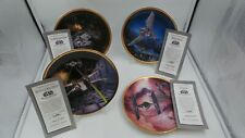 More details for the hamilton collection star wars collector plates x 4 set  (1995)