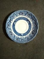 """Royal Wessex Blue Willow 5 1/2"""" Saucer Made in England - Flow Blue Display Plate"""