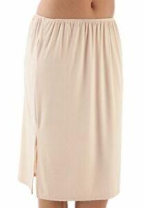 Ladies Anti Cling Cooling Waist Half Slip Underskirt Petticoat 10-22 Color Nude