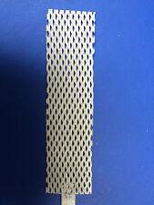 """PLATINUM COATED TITANIUM ANODE for RHODIUM PALLADIUM PLATING 1"""" x 4"""" MESH"""