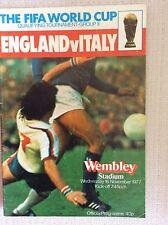 RARO PROGRAMMA UFFICIALE CALCIO INGHILTERRA - ITALIA QUAL. FIFA COPPA MONDO 1977