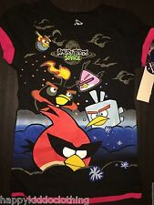 ANGRY BIRDS NEW Star Wars Tank Shirt Girls size 6 Kids space shuttle dup