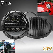 2x 7''Round LED Dual color LED Headlight High Low Beam For Wrangler