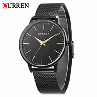 CURREN Women's Fashion Watch Stainless Steel Mesh Strap Analog Quartz Wristwatch