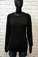 DSQUARED2 Donna Maglione Pullover Nero Taglia L Maglia Cotone Slim Sweater Women