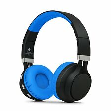 RockPapa Over Ear Foldable Bluetooth Headphones Wireless Headset Adjustable Blue