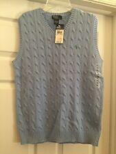 New with Tags Polo Ralph Lauren Boys Light Blue Sweater Vest Size XL (20)