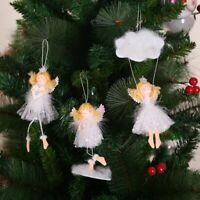 Christmas Tree Ornament Plush Angel Doll Pendant Hanging Decor Xmas Kids Toys