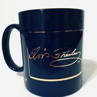 Elvis Presley Rare Mug Love Me Tender 22k Gold Culver EPE Cobalt Limited Edition