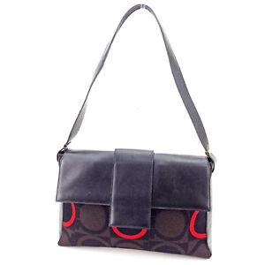 Salvatore Ferragamo Shoulder bag Ganchini Black Brown Woman Authentic Used T2318