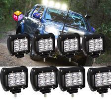 8x 4Inch 18W CREE LED Work Light Bar Spot Beam Jeep Truck SUV ATV UTE Driving