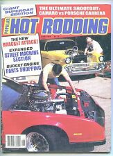 POPULAR HOT RODDING Magazine CAMARO vs PORSCHE CARRERA Supercars June 1984