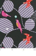 Echino Birds Bird Web Black Japanese OOP Fabric HALF YARD