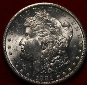 Uncirculated 1881-S San Francisco Mint Silver Morgan Dollar