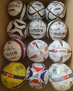Box of 12 signed official match balls fifa approved