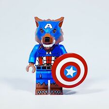 ⎡DRAGON BRICK ⎦Custom Captain America Cap Wolf Lego Minifigure