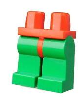 Lego 2 Stück grüne Beine rote Hüfte für Minifiguren Hosen grün rot 970c06 Neu