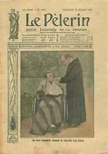 WWI Soldier Soldat Poilus Invalide Chaise Roulante Benédictin 1915 ILLUSTRATION