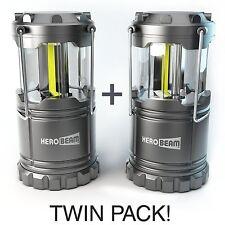 2 x HeroBeam® LED Lantern - 2016 Technology emits 300 LUMENS! - Collapsible Lamp