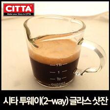 CITTA 2way Line Shot Glass 2.5oz(70ml) Coffee Espresso Cup Cafe Kitchen Tool