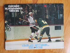 1985 CHICAGO BLACKHAWKS Calendar DENIS SAVARD Al Secord STEVE LARMER Ed Olczyk